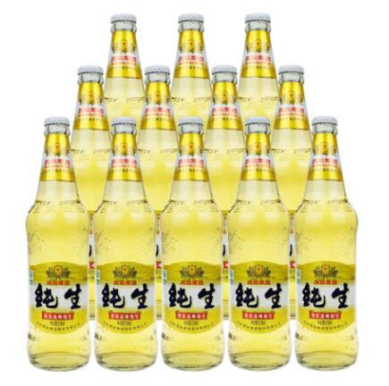 燕京啤酒 8度冰啤纯生 518ml(12瓶装)
