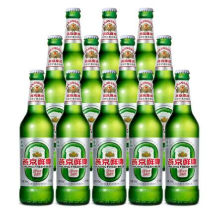 燕京啤酒 10度鲜啤 500ml(12瓶装)