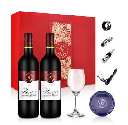 法国拉菲罗斯柴尔德珍藏干红葡萄酒豪华双支礼盒750ml(定制版)